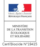 certification du Ministère de la Transition écologique et Solidaire